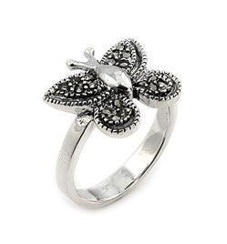 Inel argint cu marcasite in forma de fluturas0
