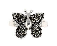 Inel argint cu marcasite in forma de fluturas1