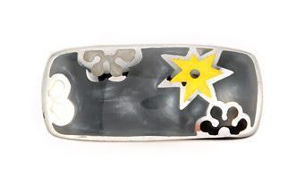 Inel argint cu stelute si floricele colorate1
