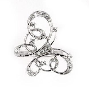 Inel argint elegant forma fluturas cu zirconii1