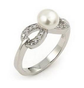 Inel argint fundita cu perla naturala de apa dulce0
