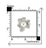 Inel argint in forma de floare cu perla si zirconii2
