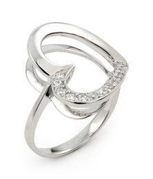 Inel argint in forma de inimioara cu zirconii0