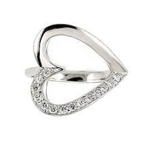 Inel argint in forma de inimioara cu zirconii1