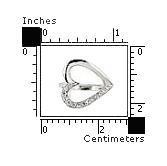 Inel argint in forma de inimioara cu zirconii2