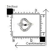 Inel argint rodiat cu 2 inimioare si zirconii2