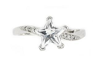 Inel argint rodiat cu piatra in forma de stea1