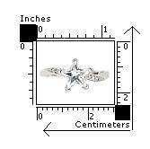 Inel argint rodiat cu piatra in forma de stea2