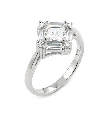 Inel argint rodiat cu zirconii albe0
