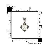 Pandant argint in forma de floare cu marcasite si perle2