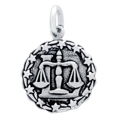 Pandantiv argint cu zodia balanta