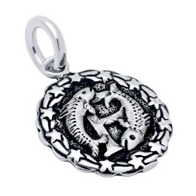 Pandantiv argint cu zodia pesti