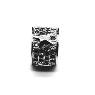 Pandantiv argint rodiat stelute cu zirconii verzi