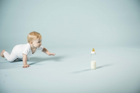 2in1 Baby glass bottle Star Ball White