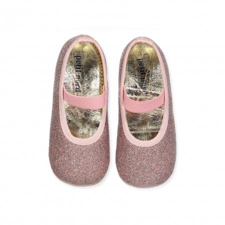 Ballerina Shoe w Elastic Disco0