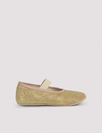 Ballerina Shoe w Elastic Gold Patinated1