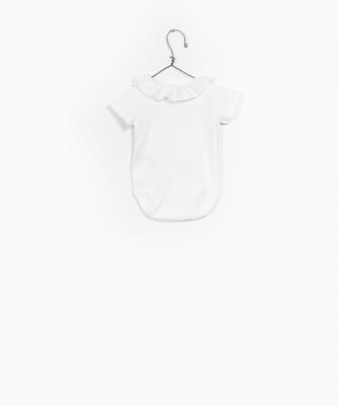 Body alb cu guler