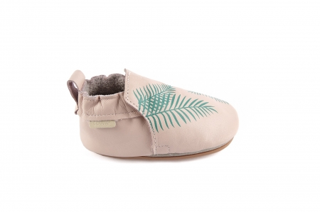 Rio Exotic Leaf pastel pink leather2
