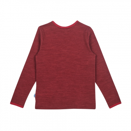 Taamo Wool longsleeve red cabernet1