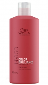 Sampon pentru par vopsit cu fir fin-normal Wella Professionals Invigo Brilliance, 500 ml