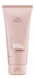 Balsam pentru pastrarea culorii pentru par vopsit blond cald Wella Professionals Invigo Recharge Warm Blonde, 200 ml