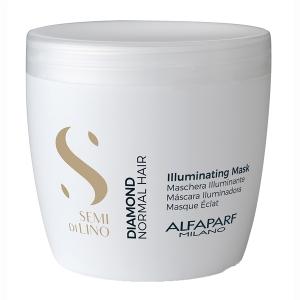Masca pentru stralucire fara sulfati Alfaparf Semi di Lino Diamond Illuminating Mask, 500 ml