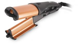 Placa profesionala DIVA pt cute frantuzesti cu infuzare de ulei de argan titan Heat Wave diametrul de 25 mm