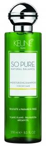 Sampon hidratant pentru par uscat Keune So Pure Moisturizing, 250ml
