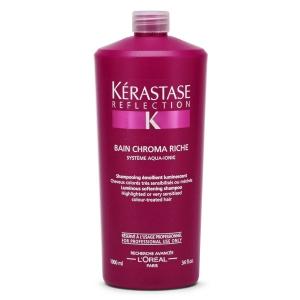 Sampon pentru par colorat si sensibilizat Kerastase Reflection Chromatique Riche Bain, 1000 ml