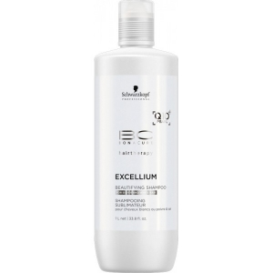 Sampon pentru par grizonat si alb Schwarzkopf Bonacure Excellium Beautifying Shampoo, 1000 ml