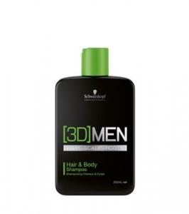 Sampon pentru par si corp Schwarzkopf 3D Hair & Body 250 ml