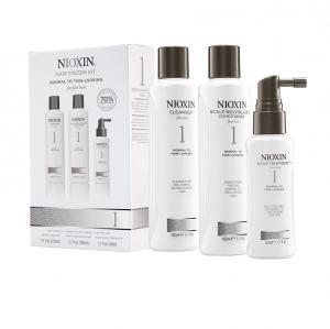 Set impotriva caderii parului Nioxin System 1, 150+150+50ml