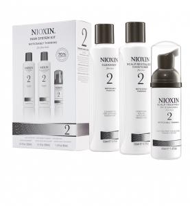 Set impotriva caderii parului Nioxin System 2, 150+150+40ml