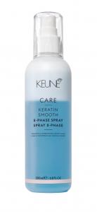 Spray bifazic cu cheratina pentru disciplinare si fortifiere Keune Care Keratin Smooth, 200 ml