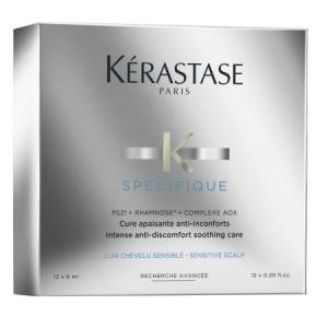 Tratament pentru scalp iritat Kerastase Specifique Cure Apaisante, 12 x 6 ml