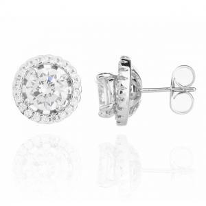 Cercei Borealy Argint 925 Diamond Halo One4