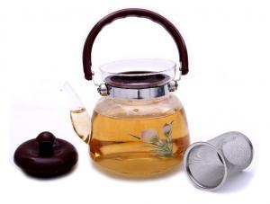 Ceai Floare Jasmine & Lilly Blooming flower cu ceainic sticla de lux1