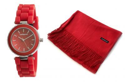 Cadou Lady in Red Ceas Cacharel & Esarfa Casmir0