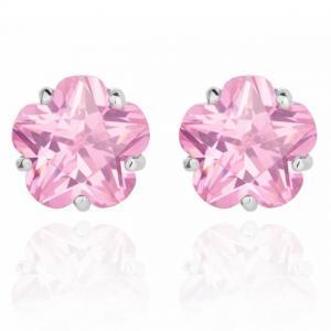 Cercei Borealy Sapphire Studs Flower Cut Pink0