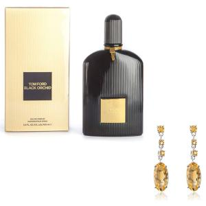 Cercei Citrine Oval by Borealy & Tom Ford Black Orchid0