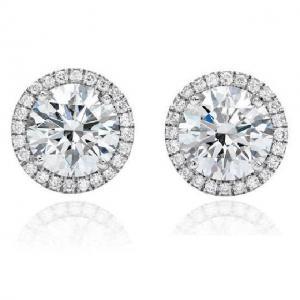Cercei Borealy Argint 925 Diamond Halo One0