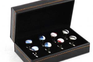Cutie butoni din piele Luxury Personalizabila6