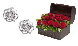 Cufăr 19 Happy Roses & Cercei Roses Studs Borealy0