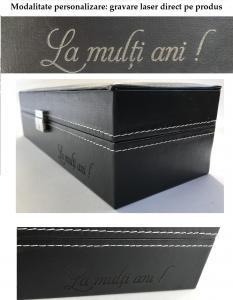 Cutie 5 ceasuri piele naturală By Friedrich seria Collector London Leather - Made in Germany8
