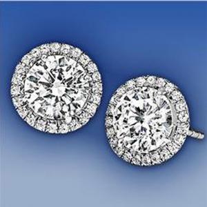 Cercei Borealy Argint 925 Diamond Halo One5