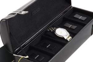 Cutie 5 ceasuri piele naturală By Friedrich seria Collector London Leather - Made in Germany5