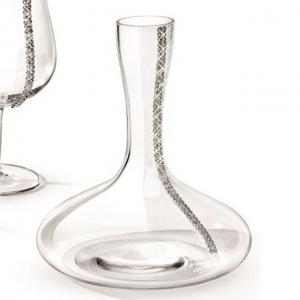 Noble Wine Decanter with Swarovski Elements by Chinelli - Made in Italy1