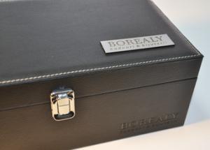 Cutie butoni din piele Luxury Personalizabila5
