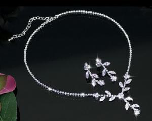 Set White Charismatic made with Swarovski Elements0