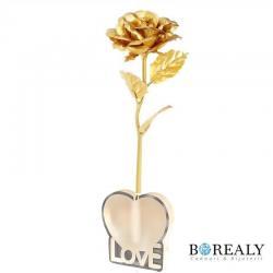 Trandafir Aur 24k & Suport Love0